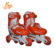 Bright color professional custom inline speed 4 wheels roller skates shoes flooring for girls manufacturer