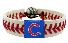 2014 high quality Leather Healthy Sports bracelet Braided Mixed Color Handwork Bracelet Chicago Cubs