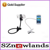 2015 fashional gooseneck hand cell phone holder for bed and desk