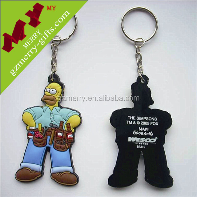 Popular products custom silicon keychain wholesale
