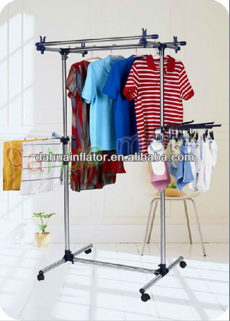 Household Essentials Extendable Rolling Garment Rack