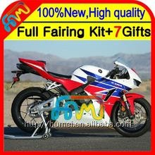 BodyBlue white For HONDA CBR600RR 13-14 CBR600 RR F5 28CL4 CBR 600RR 600 Red white blue RR 13 14 2013 2014 Injection Fairing