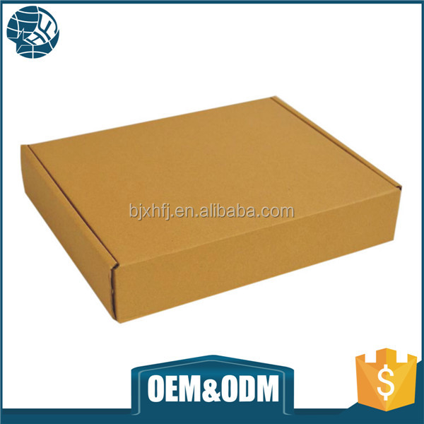 Custom logo printed recycled brown corrugated paper box