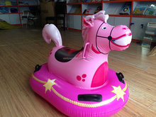 Kid's Pool Float Inflatable Pink Horse Ride On Float
