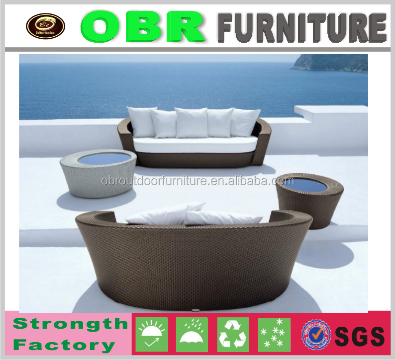 New arrival home /outdoor wicker round sofas rattan outdoorfurniture