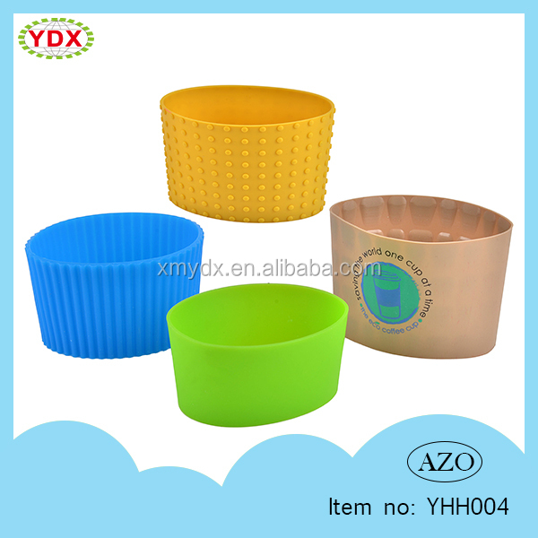 Personalized Logo Branded Promotional Silicone Cup Sleeve/Silicone Cup Lid