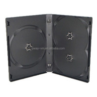 22mm black 3 discs dvd case /22mm dvd box for 3 discs