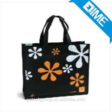 Promotional Cheap Customized beautiful design Laminated Eco Fabric Tote Non-woven Shopping Bag, Recyclable PP