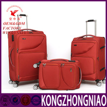 3 Pcs Red Beautiful Factory Direct Trolley Luggage Travel Bag For Girls