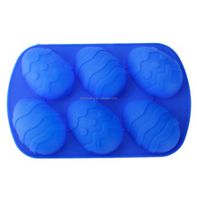 Hot sale durable promotional christmas egg silicone soap/chocolate/candy molds