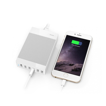 Charging Station Most Powerful 5-Port 40W 8A Multi usb Port Charger ,Smart Fast Family Device Chargers for iPhone 6 6 Plus