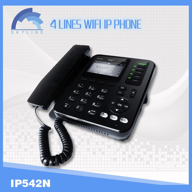 4 line voip wifi phone android sip video phone