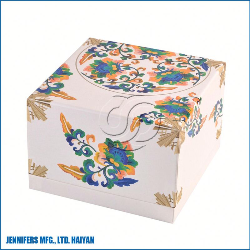 Beautiful eco friendly handmade paper snack box/hot sale food packaging