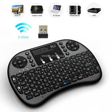 Latest 2.4G Wireless Mini backlit french keyboard with touchpad with high quality