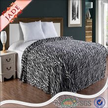 Zebra printed coral fleece blanket