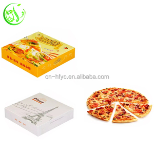 take away kraft paper pizza delivery box price with logo for fast food packaging