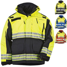 design custom made best EMS security guard 3m reflective blue safety waterproof softshell dress/ uniform jacket
