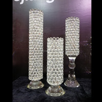 High quality beautiful crystal glass flower vase with different size
