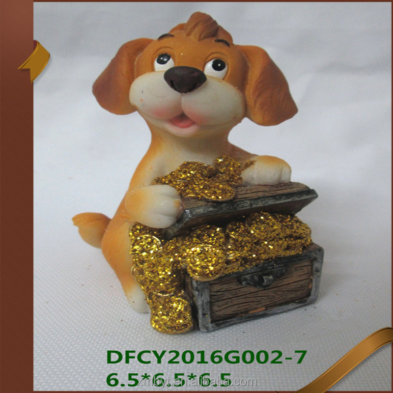 Wholesale set2 home decoration resin dog statue ornaments dog figurines