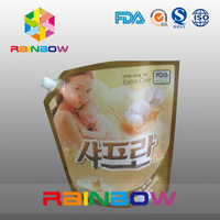 durable and leakage proof flexible Vinegar/Cooking oil/Energy drinks/Salad dressing packaging spout bags