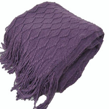 SZPLH Fashionable bubble tricot knit sofa blanket and scarves for summer