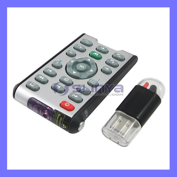 Wireless Infrared Mini USB PC Remote Controller with Laser Pointer/Wireless PC Remote Controller