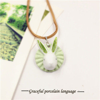 porcelain rabbit logo pendant wholesale Christmas decoration accessory pendant