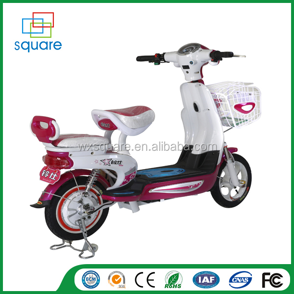 2016 top quality cheap with pedals electic moped motorcycle for adult