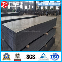 SS400 A36 Q235 ST37-2 tear drop checkered steel plate