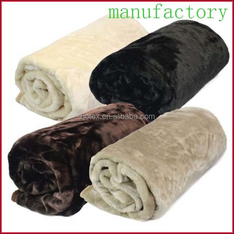 china factory supplier customize super king size thick mink faux fur throw korean style blanket