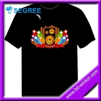Plastic Led sound activated t shirts For christmas/Party/ Halloween
