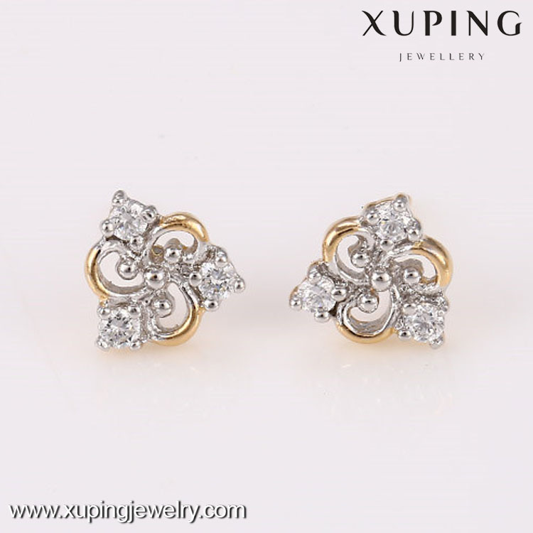 26608 High quality cheap multicolor single stone earring designs