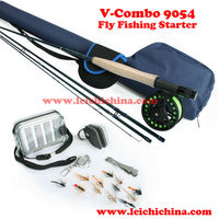 High quality fly fishing rods and reel starter fly fishing combo