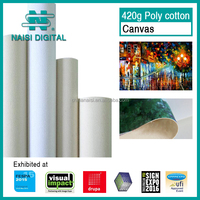 420gsm wide format INKJET polycotton CANVAS roll