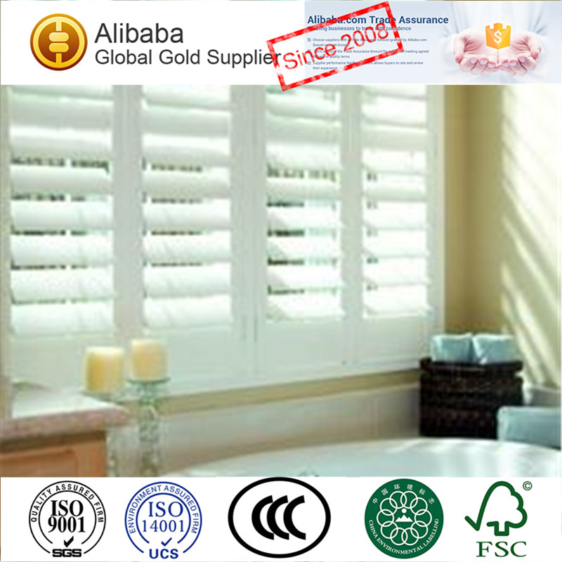 Good Quality of Customised Stained Discount Plantation Shutters Atlanta Sun Shade