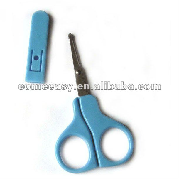 have stock with cover round tip baby nail scissors