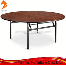 2016 Foshan wholesale cheap used banquet tables round folding for hotel