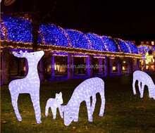 Christmas decoration led motif led reindeer family pure white color