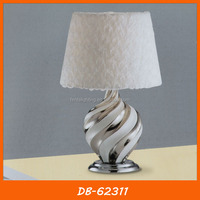 Fabric lampshade hand painted ceramic table lamp for living room DB-62311
