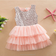 New Arrival Sequin Bow Kids Girls Princess Dress Frocks Puffy TUTU Dresses For Little Girls
