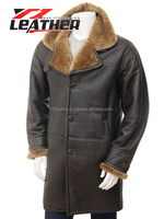Hot Sale Cheap High Quailty leather Knitted Rabbit Fur Coat Long Coats with fur