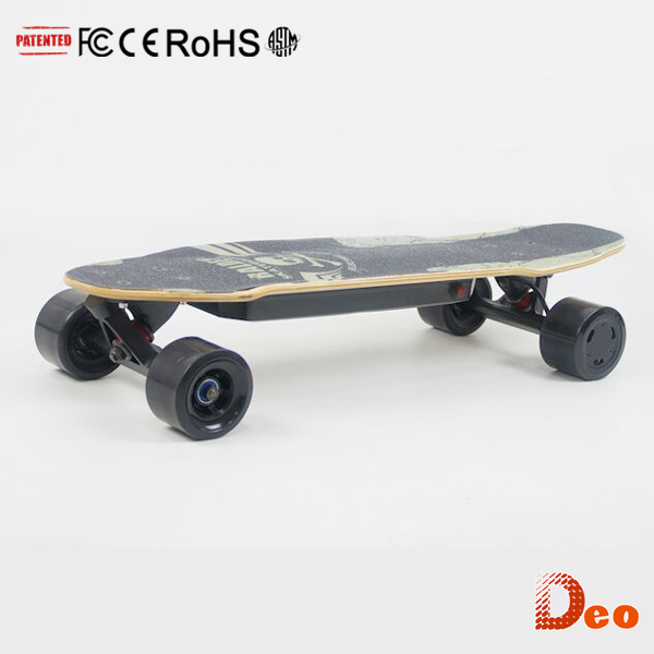 CE RoHS FCC ASTM UL Low Cost Wireless Remote Control Light Weight Canadian Maple Wood Voltage One Wheel Skateboard