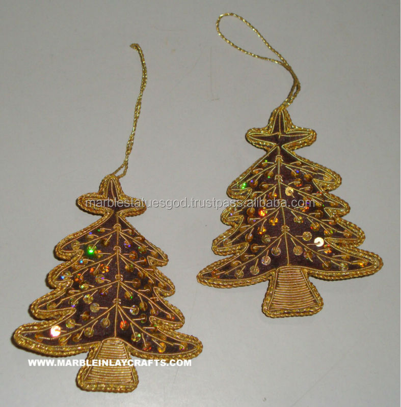 Handicrafted Christmas Tree Beaded Ornament, Christmas Holiday Gifts