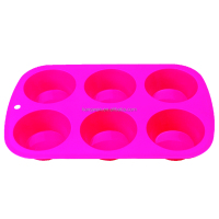 Baking tools red color silicone muffin baking mold silicone cake pan cake mold