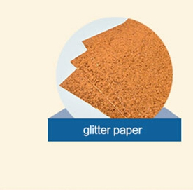 factory supply sparkly glitter paper stock