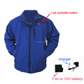 2016 softshell 7.4V rechargeable battery motorcyle ski heated jacket