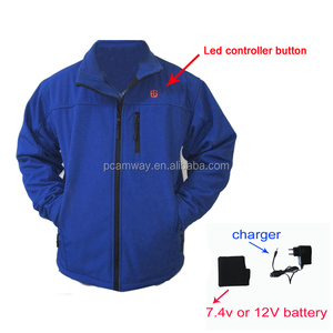 softshell 7.4V rechargeable battery motorcycle ski heated jacket