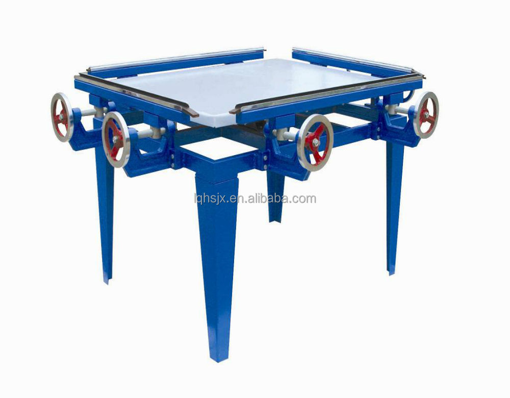 Square table manual screen printing stretch machine
