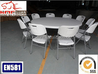 6 ft white cheap plastic folding round table for picnic,dining,wedding at factory price