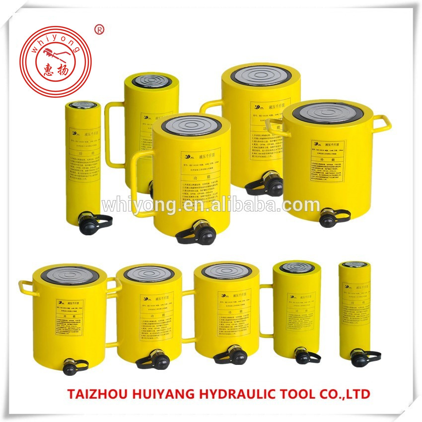 WHIYONG RSC length Single-acting hydraulic cylinder used hydraulic cylinders sale 10T20T30T50T100T